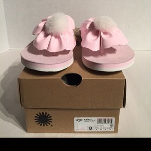 New Ugg Women's Poppy Seasshell Pink Floppy Sandal